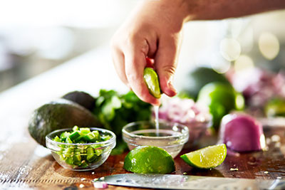 Limes in cooking